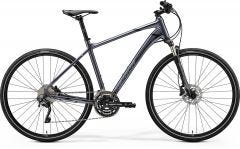 Merida Crossway 500 Hybrid Bike Glossy Anthracite/Black/Silver (2020)