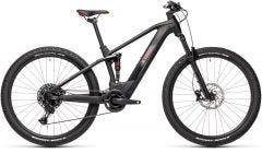 Cube Stereo Hybrid 120 Pro 500 Electric Mountain Bike Black/Red (2021)