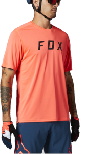 FOX Ranger Block Short Sleeve Jersey Atomic Punch