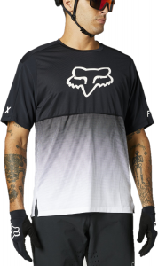 FOX Flexair Short Sleeve Jersey Black/White