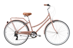 Pedal Uptown DLX Cruiser Bike Rose Gold