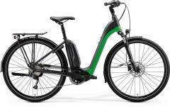 Merida eSpresso CIty 200 EQ Electric Hybrid Bike Matt Black/Green Glossy/Dark Silver (2020)