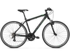 Kross Evado 2.0 700c Hybrid Bike Black/Green LG (2019)