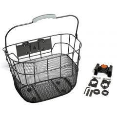 Wire Mesh Front Basket QR Black