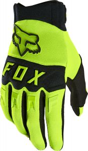 FOX Dirtpaw Full Finger Gloves Fluro Yellow
