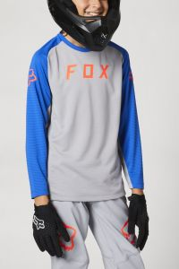 FOX Defend Long Sleeve Youth Jersey Grey