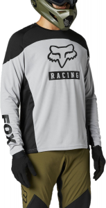 FOX Defend Long Sleeve Jersey Steel Grey