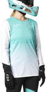 FOX Flexair Long Sleeve Women's Jersey Teal