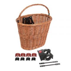 Front Wicker Basket QR Tan