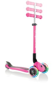 Scooter Kids Globber Primo Foldable Lights Deep Pink