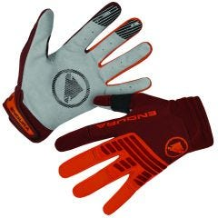 Endura SingleTrack Full Finger Gloves Orange/Tangerine