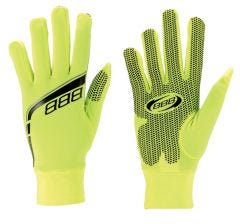 BBB Raceshield Winter Full Finger Gloves Neon Yellow
