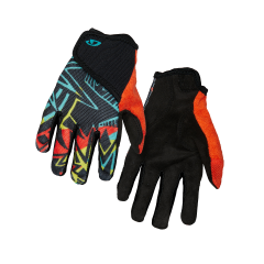 Giro DND Full Finger Youth Gloves Black Blast