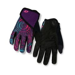 Giro DND Full Finger Youth Gloves Purple Blossom
