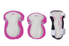 Globber Junior Protective Pad Set Pink