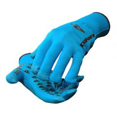 DeFeet Duraglove ET Full Finger Gloves Ocean Blue w/Black Grippies