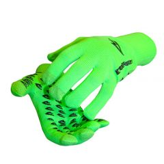 DeFeet Duraglove ET Fulll Finger Gloves Hi-Vis Green