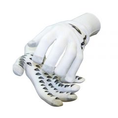 DeFeet Duraglove Full Finger Gloves ET White w/Black Grippies
