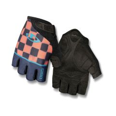 Giro Jagette Short Finger Women's Gloves Checkers Midnight/Peach