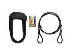 Hiplok DX 2M Cable Lock Black