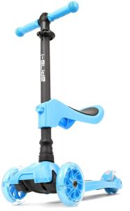 I-Glide with Lights and Seat Kids Scooter Blue