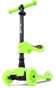 I-Glide with Lights and Seat Kids Scooter Green