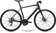 Merida Speeder 400 Flat Bar Road Bike Matt Black/Glossy Black (2021)