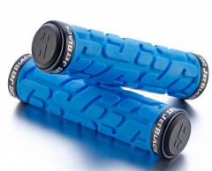 Jet Black Rivet Lock On Grips [w/Rings] (Blue/Black) | 99 Bikes
