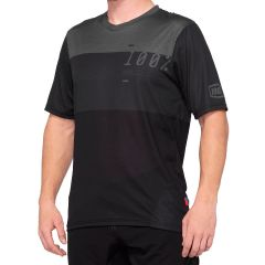 100% Airmatic Short Sleeve Jersey Charcoal/Black
