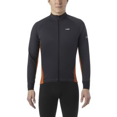 Jersey LS Giro Windbloc Chrono Pro Charcoal/Red