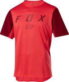 FOX Flexair Short Sleeve Jersey Moth Bright Red