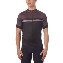 Giro Chrono Sport Sublimated Short Sleeve Jersey Black/Grey Stripe