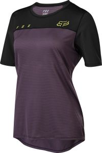 FOX Flexair Womens Short Sleeve Jersey Dark Purple