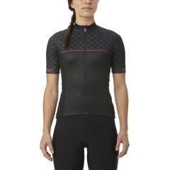 Giro Chrono Sport Women's Short Sleeve Jersey Black Checks