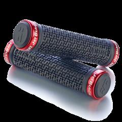 JetBlack Pin LockOn Grips | MTB (Black/Red) | 99 Bikes