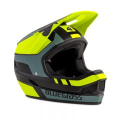 Bluegrass Legit Fullface Helmet Black Fluo/Yellow Grey
