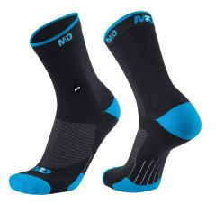 M2O Endurance Band Socks Black/Cyan