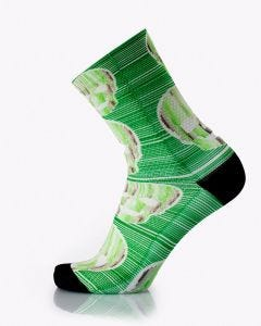 MB Wear Fun Socks Green Skull