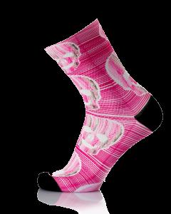 MB Wear Fun Socks Pink Skull