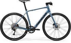 Merida eSpeeder 200 Electric Flat Bar Raod Bike Steel Blue/Silver/Black (2021)