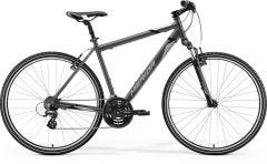 Merida Crossway 10 V Hybrid Bike Silk Anthracite Grey/Black (2021)