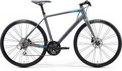 Merida Speeder 100 Flat Bar Road Bike Matt Cool Grey/Blue/Red (2021)