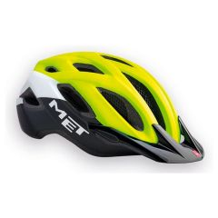 MET Crossover 18 Helmet Safety Yellow/White/Blk