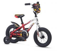 "Mongoose 12"" Lilgoose Boys Bike Silver/Red (2020)"