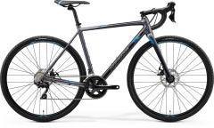 Merida Mission CX 400 Cyclocross Bike Matt Silver/Blue (2020)