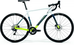 Merida Mission CX 7000 CycloCross Bike Pearl White/Teal Blue/Lime (2021)