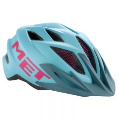 MET Crackerjack Youth Helmet (Light Blue/Magenta)