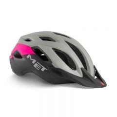 MET Crossover Helmet Grey/Pink 52 - 59cm