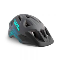 MET Eldar Youth Helmet Gray Texture/Matt 52-57cm
