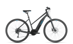 Cube Nature Hybrid ONE 400 Trapeze Electric Hybrid Bike Iridium/Blue (2020)